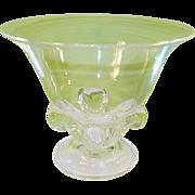 SALE Vintage Steuben Footed Consul Bowl