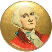 SOLD Vintage Political Commemorative Button George Washington 1896 - Red Tag Sale Item