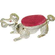 SALE Vintage Pin Cushion Poodle Design by Florenza