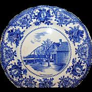 SALE Vintage W. Adams Co. England Blue & White Plate