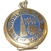 SALE Vintage NY World's Fair 1940 Souvenir Locket Gold Filled