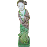 SALE Vintage Chinese Glazed Figurine 1920's