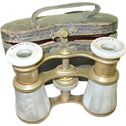 SALE Antique Opera Glasses Mother-of-Pearl & Case