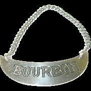 SALE Vintage Sterling Bottle Label Bourbon