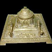 SALE Victorian Bronze Inkwell