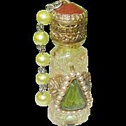 SALE Vintage  Irice Perfume Bottle Czechoslovakian