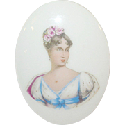 SALE Vintage Miniature Limoges Plaque Handpainted Portrait