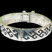 SALE Vintage Sterling Silver  Taxco Bracelet