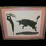 SALE Picasso Silkscreen Print Bullfighter Signed