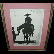 SALE Picasso Silk Screen Black & White 1959 Series IV