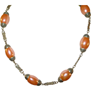 SALE Vintage Czechoslovakian Glass Bead Necklace