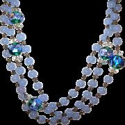 SALE Vintage Venetian Glass Bead Necklace