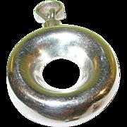 SALE Vintage Sterling Silver Scent Bottle Pendant