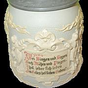 SALE Mettlach Stein Villeroy Boch No. 1370