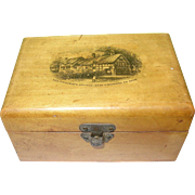 SALE Vintage Mauchline Trinket Box Stratford On Avon