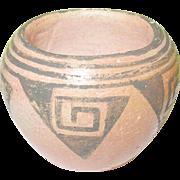 SALE Vintage Native American Art Pottery Bowl