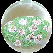 SALE Vintage Art Glass Paperweight Millefiori