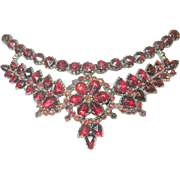 SALE Victorian Rolled Gold & Pinched Garnet Lg Brooch