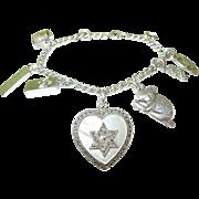SALE Vintage Sterling Charm Bracelet 9 Charms