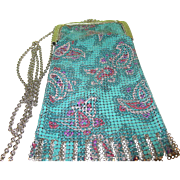SALE Vintage Whiting and Davis Enameled Mesh Bag Anniversary Collection