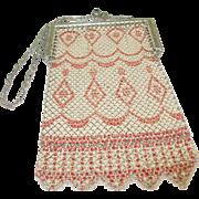 SALE Vintage Art Deco Mesh Bag
