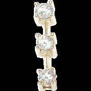 SALE Vintage 14K Diamond Drop Pendant