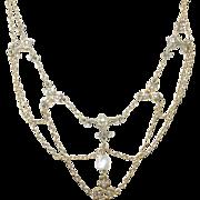 SALE Victorian Gold Filled Festoon Necklace