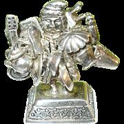 SALE Vintage Sterling Miniature Sculpture Peruvian Peddler