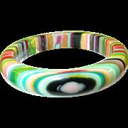 SALE Carlos Sabrol of Brazil Resin Bangle Multicolored