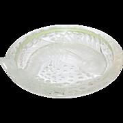 SALE Vintage Lalique Bowl Fish Design