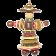 SALE Vintage Bakelite Figure Pendant
