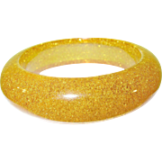 SALE Vintage Bakelite Gold Dust Bangle