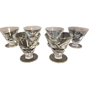 6 Waterford Crystal Sherbet Glasses Lismore Pattern