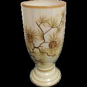 Vintage 1950 Opal Hand Painted Vase