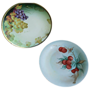 2  Bavarian Hand Painted Plates F.Thomas and Tirschenreuth-signed