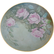 German Porcelain Hand Painted 10 inch Plate