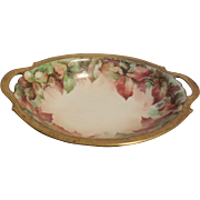 Antique T & V Limoges France Porcelain Hand Painted Bowl Artist Signed
