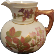 1890 Royal Worcester Creamer Floral Design