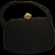 SALE Black Satin Evening Bag by Bobbie Jerome