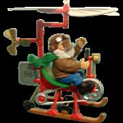 SOLD Santa's Flying Machine - Red Tag Sale Item
