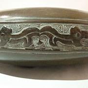 Mid 20th Century Bronze Chinese Styled Lo Brush Washer