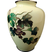 SALE Ando Jubei Cloisonne' Vase with Shakudo Mounts