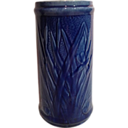 Old Sleepy Eye Cattail Vase in Cobalt
