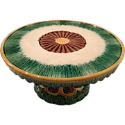Griffen Smith & Hill Majolica Cake Stand