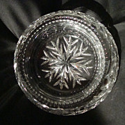 American Brilliant Cut Glass Bishop's Hat Bowl