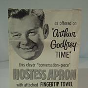 SALE Arthur Godfrey Time Hostess Apron Pattern in original envelope