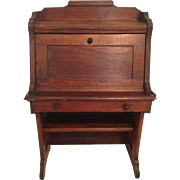 Child's Oak Victorian Drop Front Desk