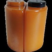 SOLD Bakelite Salt and Pepper Shakers Art Deco Stylized