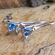 Gorgeous Lavender Blue Sapphire Earrings