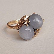 Double Lavender Star Sapphire Engagement Ring
